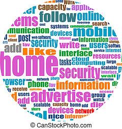 Illustration of social media concept. Social Media Wordcloud