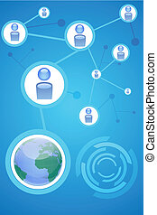 social networking - illustration of social networking with...