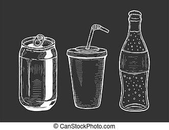 illustration of soda set.