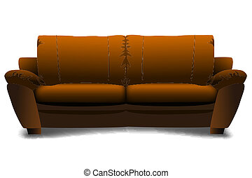 sofa - illustration of sofa on white background