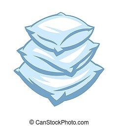 Illustration of soft pillow stack.