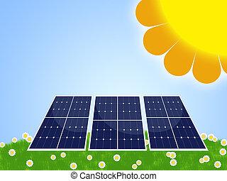 solar panel - illustration of solar panel for renewable...