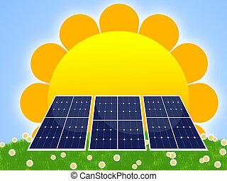 solar panel - illustration of solar panel for renewable ...