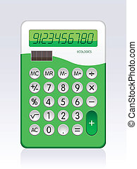 Calculator - Illustration of Solar Powered Basic Calculator...