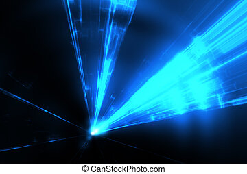 blue laser rays