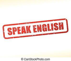 speak english text buffered on white background - ...
