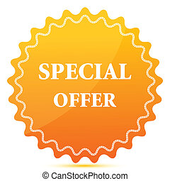 illustration of special offer tag on white background