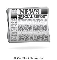 illustration of special report news paper on isolated background