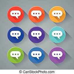 speech bubble icons concept