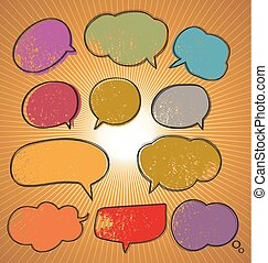 speech bubble set - Illustration of speech bubble set