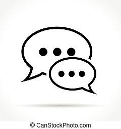 speech bubbles thin line icon - Illustration of speech ...
