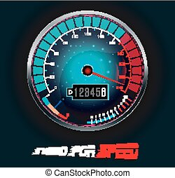 Speedometer isolated on black