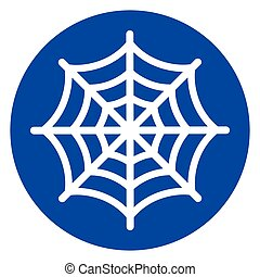 spider web blue circle icon