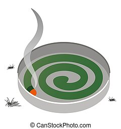 Illustration of spiral mosquito coil