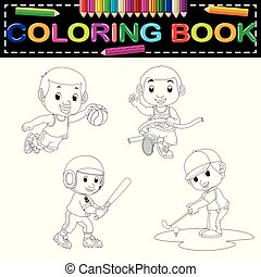 sport coloring book