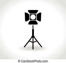 spotlight icon on white background
