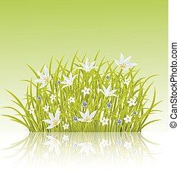 Illustration of spring grass