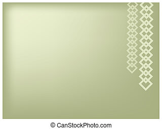 Illustration of Square Chain on Green Background