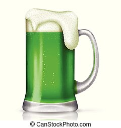 St Patrick's day background with glass beer