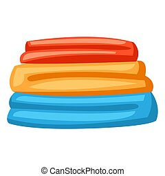 Illustration of stack folded clothes.