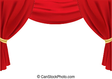 illustration of stage curtain on isolated background