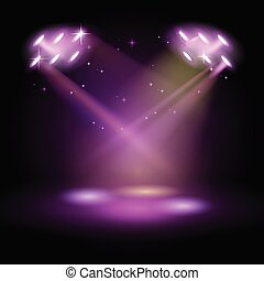 Stage Podium Scene with for Award Ceremony on purple Background