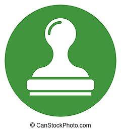 stamp green circle icon