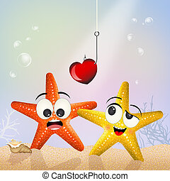 starfishes in the ocean