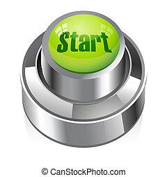 start button - illustration of start button on white...