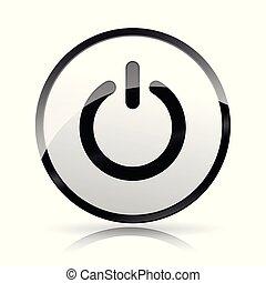 start icon on white background