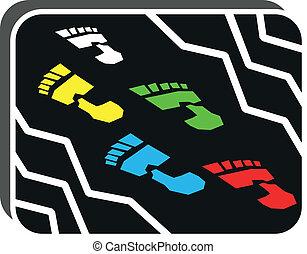 step - illustration of step