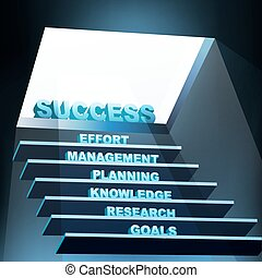 illustration of steps of success