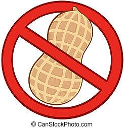 Illustration Of Stop Peanuts Sign