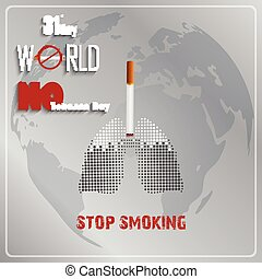 Stop smoking for 31st May - Illustration of Stop smoking for...
