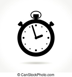 stopwatch icon on white background