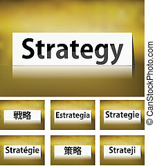 Strategy Concept on white background