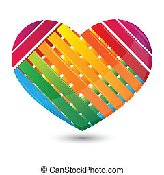 stripped heart