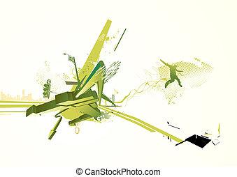 urban background -  illustration of style urban background