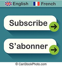 subscribe button with french translation