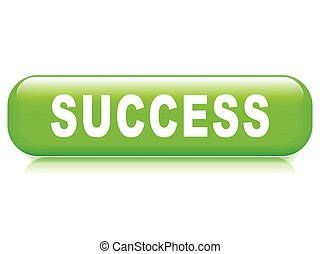 success button on white background