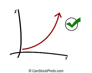 success - illustration of success diagram
