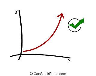 success - illustration of success diagram