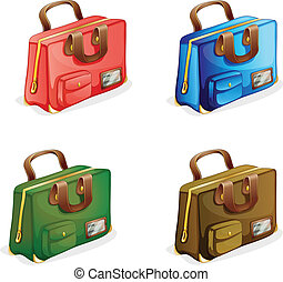 suitcases - illustration of suitcases on a white background