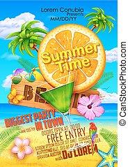 Summer Festival poster design