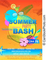 Summer Party poster design