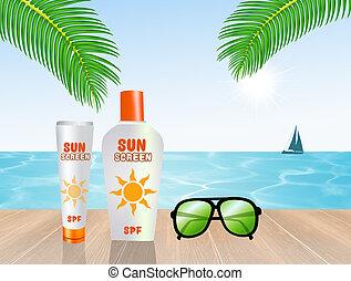 illustration of sun protection