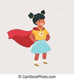 Illustration of Super Hero Girl.