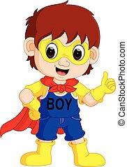 superhero boy cartoon