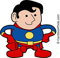 Illustration of superhero - Illustration of male superhero...