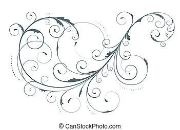 floral element - illustration of swirling flourishes...